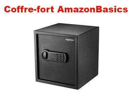 Amazonbasics coffre-fort noir 14l notice