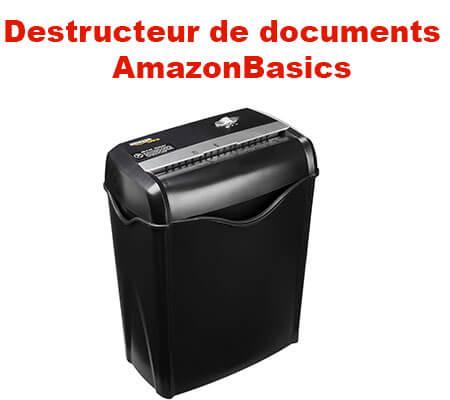 Destructeur de documents AmazonBasics