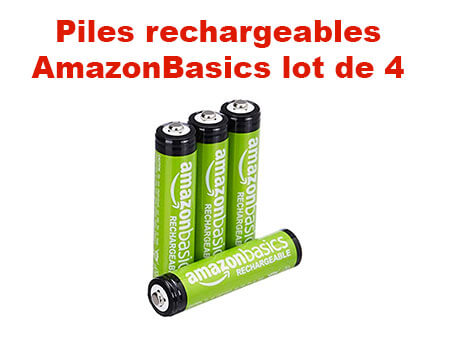 Amazon Basics Piles Rechargeables