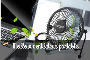 Ventilateur rechargeable prix